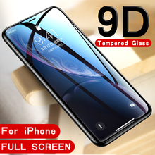 9D Tempered Glass for iphone 8plus 8 7 6 6s plus 7plus Screen protector Protective Glass f