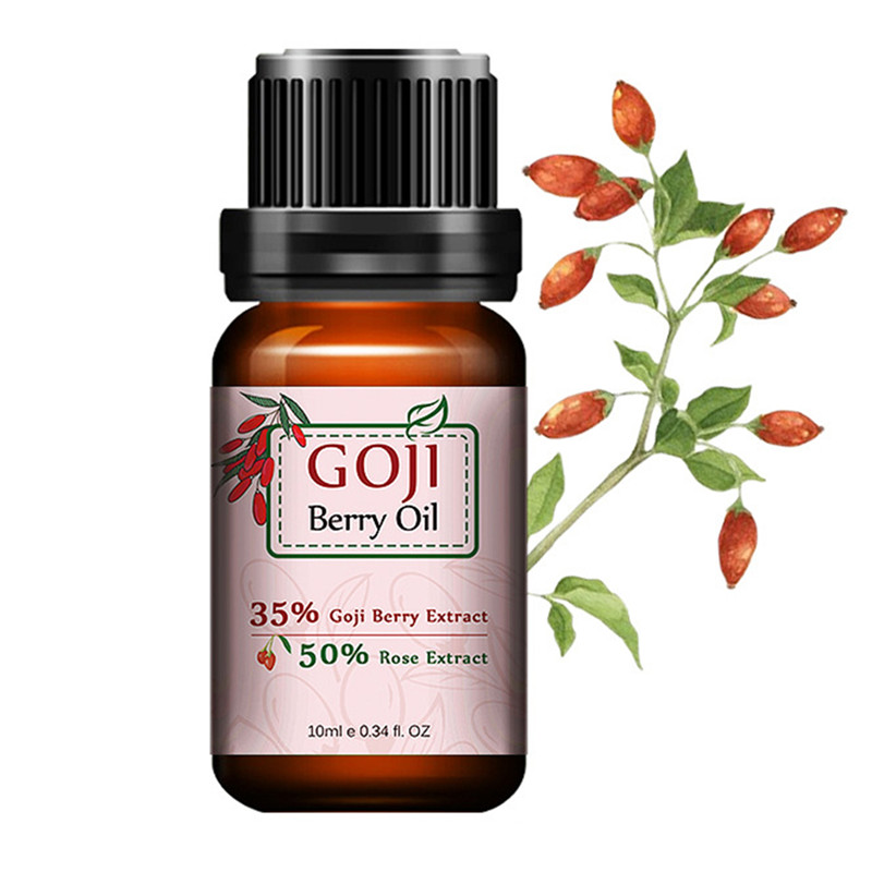 1 Bottle Goji Berry Essential Oil Skin Care Oil Anti Wrinkle Anti Aging Rose Flavor Chinese Wolf Berry Goji Lifting Face Serum