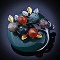 5 Colores de La Vendimia Broche de Planta de Alta gama de Piedras Naturales Broche Pines Hermoso Para Las Mujeres Nuevo 2016 FBRO053