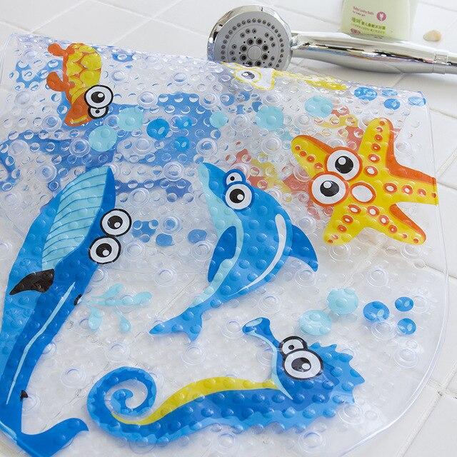 NUOVO Carino 20/di Colore Anti-Slittamento del PVC Vasca Da Bagno Zerbino s Pesce Animale Con Ventosa Bagno del capretto Tappeto doccia Vasca Da Bagno Zerbino Morbido Massaggio Pad