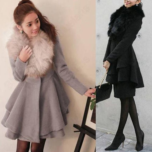 jackets Picture - More Detailed Picture about Women Wool Coat Fur ...