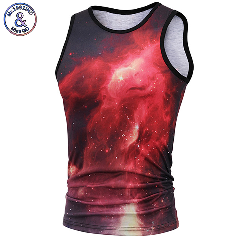 Mr.1991INC 2018 New Men/Women 3D Vest Sleeveless 3D Digital starry sky printing Mens Tanks Tops Tees Size M-3XL 6250# ...
