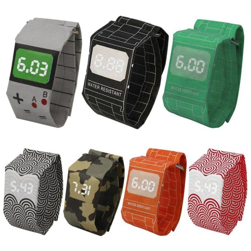 참신 재미있는 크리 에이 티브 종이 시계 장난감 - 개그 완구