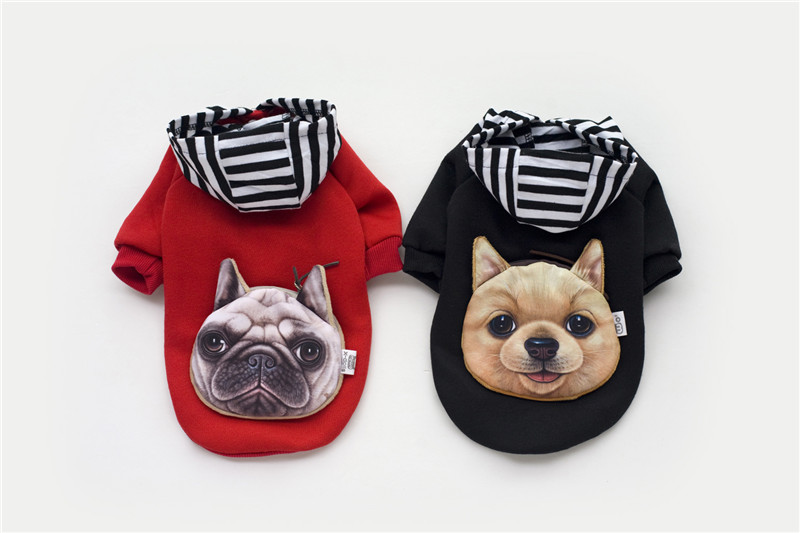 A35 kutya őszi téli pamut és bársony pulóverek - táska design - Pet termékek - Fénykép 3
