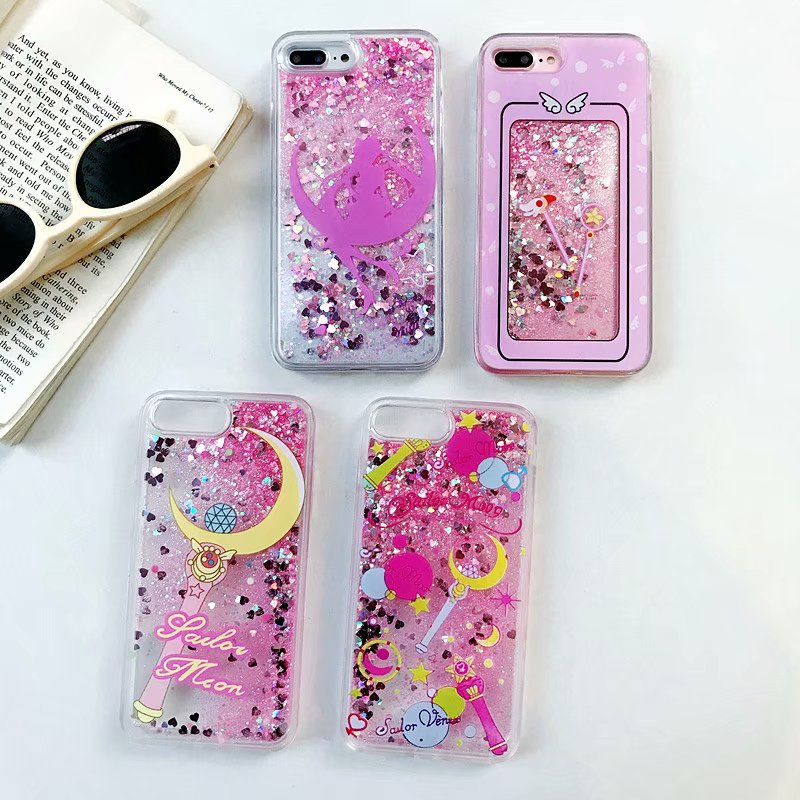 Fitted Cases Cellphones & Telecommunications For Iphone 6 6s 7 8 Plus X Xr Xs Xsmax 3d Luxury Quicksand Star Moon Magic Wand Girl Angel Emboss Cartoon Patterned Phone Case Cheapest Price From Our Site