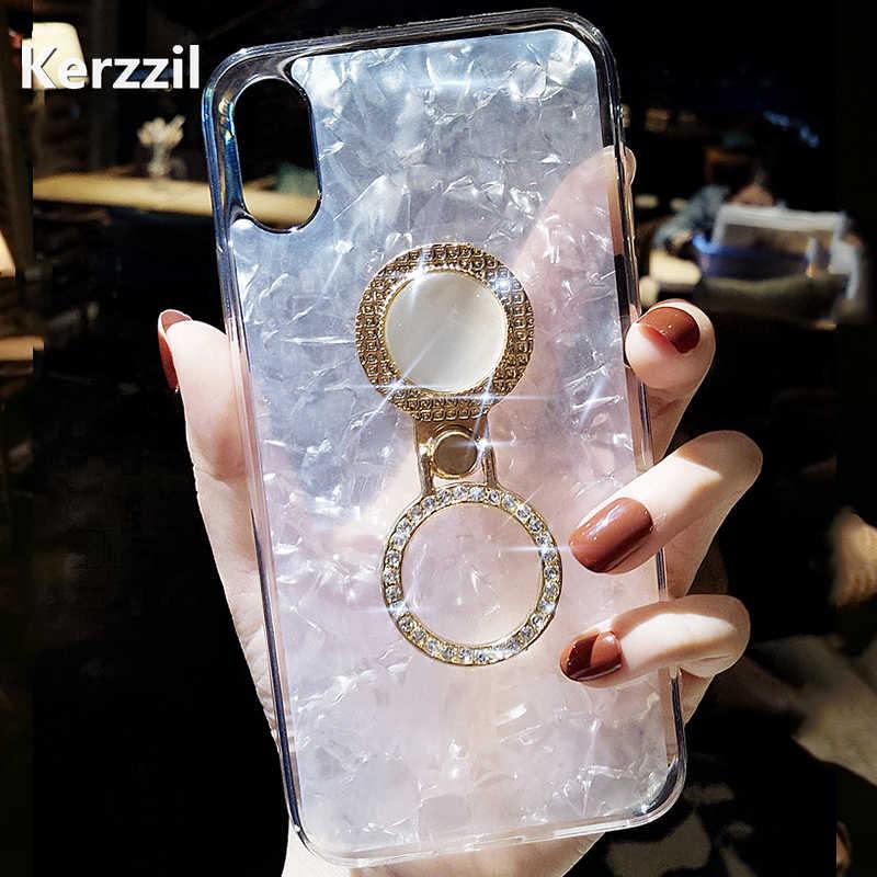 ... Kerzzil Finger Holder Diamond Phone Case For iPhone 6 8 7 X Cute  Kickstand Cover Soft ... 521a078ea793