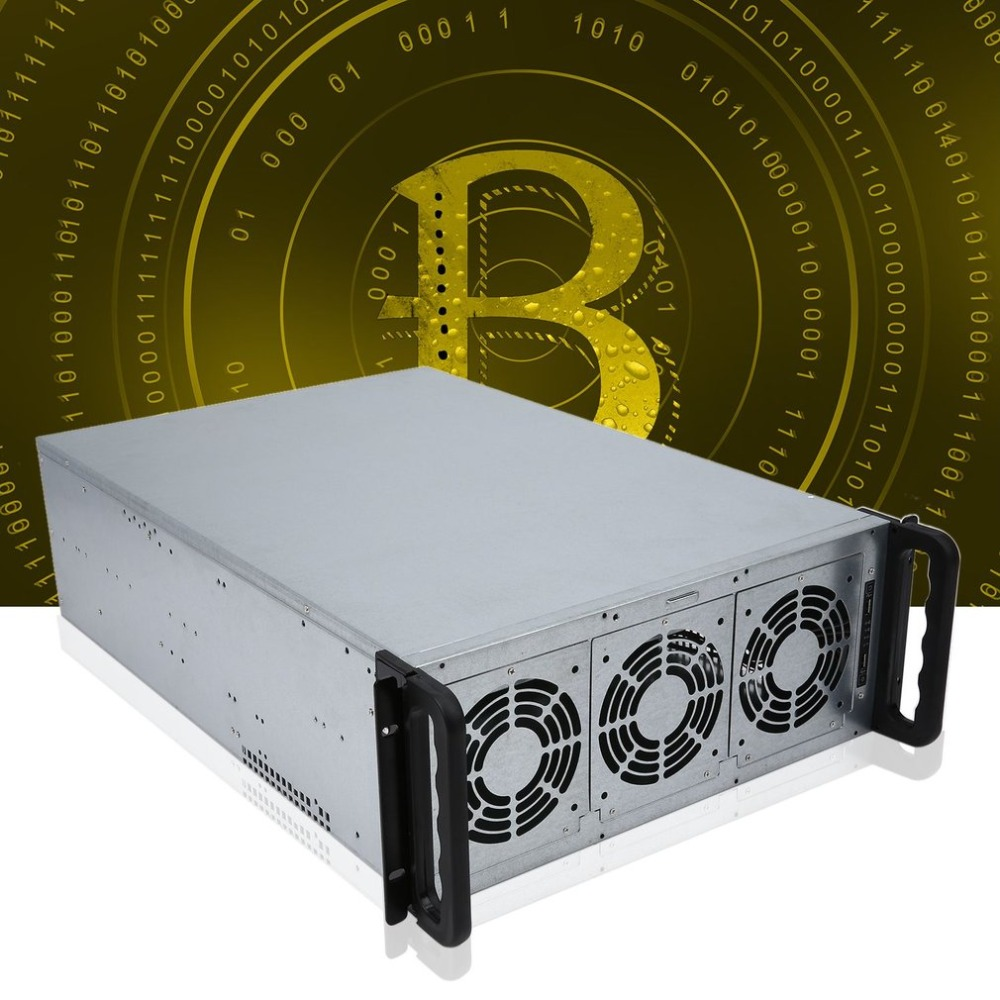 Riser Mining ETH/ETC/ZEC/XMR 4U Mine Mining Machine Chassis 6/8 Graphics Server Chassis Single Power Supply