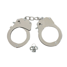 HanHaoBird Magical Sexy silver metal handcuffs Can be unlocked Bondage handcuffs