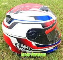 2015 new fashion arai Motorcycle helmet doohan full face mens moto helmet high quality M L XL XXL double lens