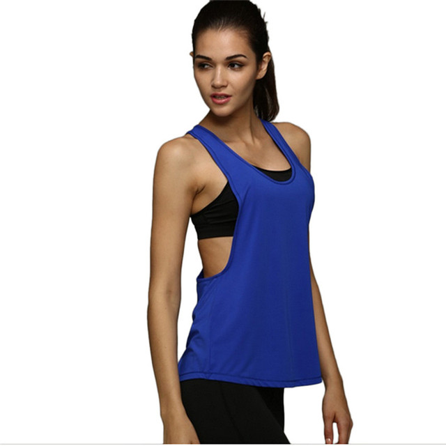 09cc212ed2882 Summer Sexy Fitness Clothes Women Tank Tops Loose Workout Sleeveless Quick  Dry Vest Singlet For Women T-shirt S-XXL