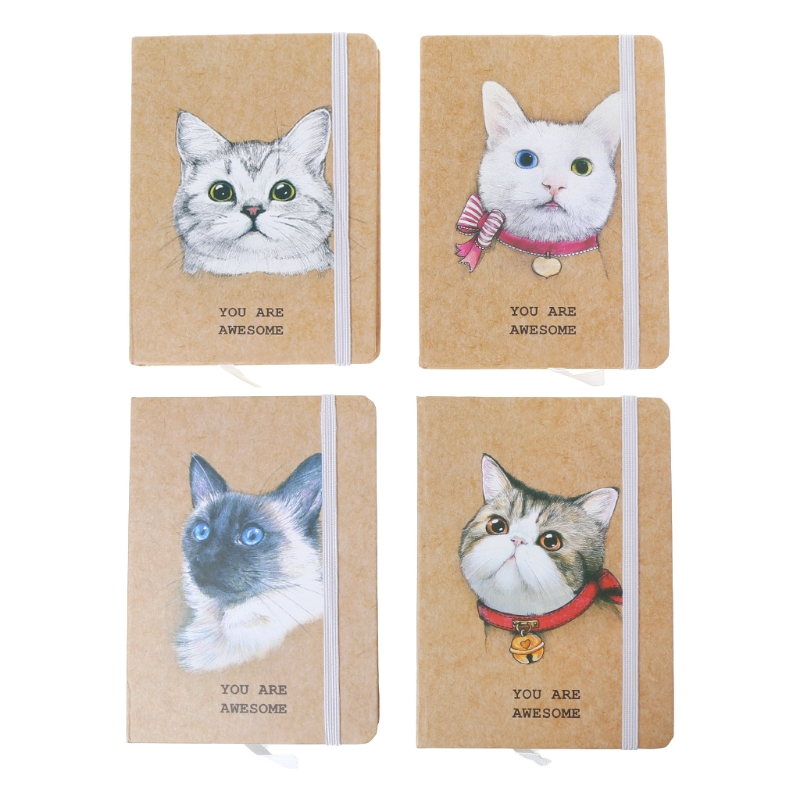 A6 Cat Portable Notebook Pocket Diary Memo Notepad Journal Planner Freenote Gift