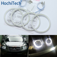 Ultra bright SMD white LED angel eyes halo ring kit daytime running light DRL for Hyundai Santa Fe santafe 2007 2012