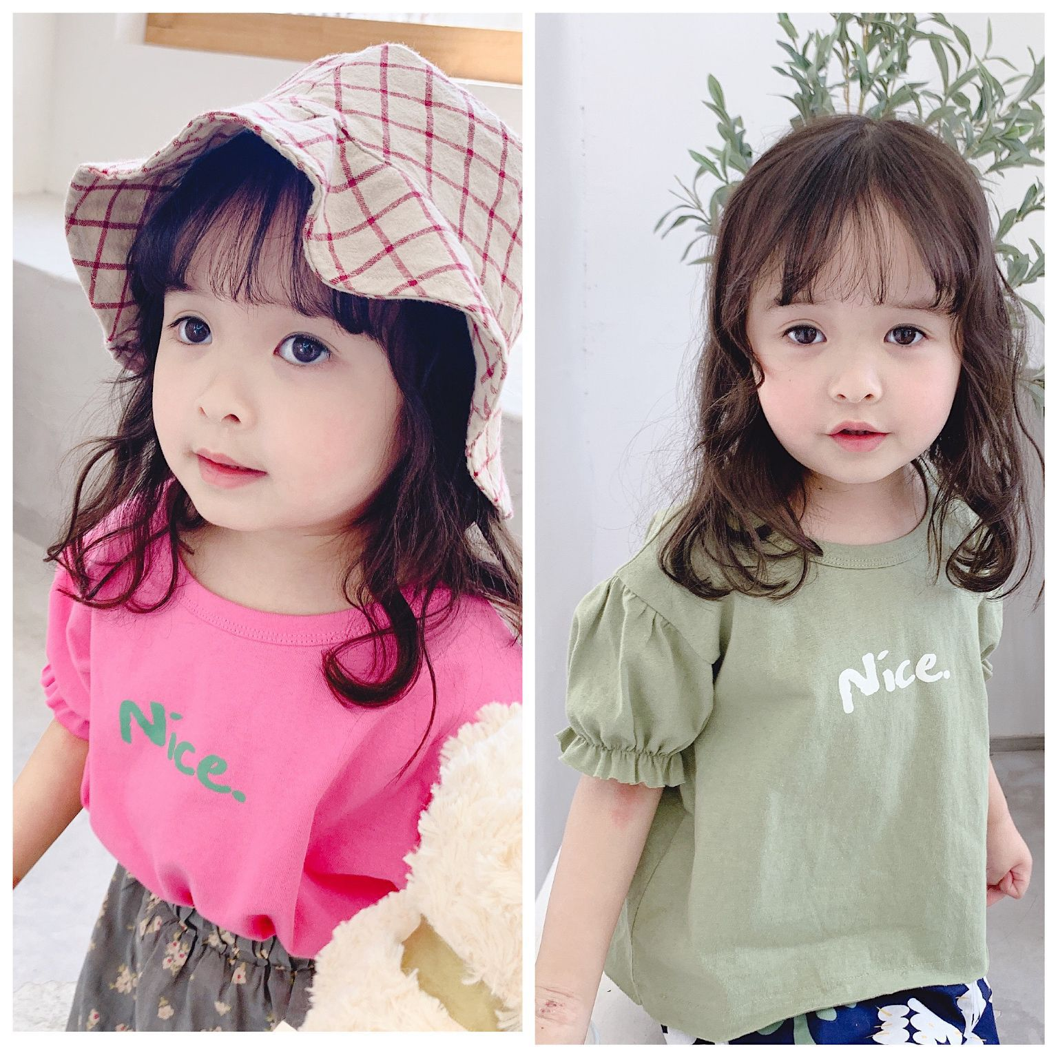 Waiwaibear Solid color T Shirt Baby Rose Red And Bean Green 100% cotton T-shirts Summer Tee Girls Tshirt Tops 19221Waiwaibear Solid color T Shirt Baby Rose Red And Bean Green 100% cotton T-shirts Summer Tee Girls Tshirt Tops 19221