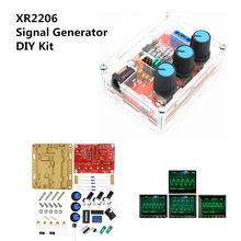 Gerador de sinais, gerador de sinais diy kit triângulo saída quadrada 1hz-1mhz gerador de sinais ajustável frequência ajustável amplitude xr2206