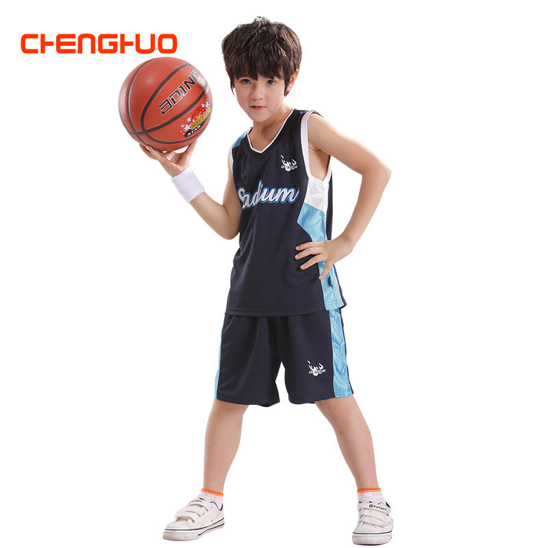 9d89142e7d6 Summer leisure sport suit boys girls basketball wear sleeveless T-shirt  shorts