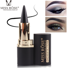 Miss Rose black eyeliner stick makeup smooth solid Thick gel waterproof natural smoky eye liner quick dry MS051