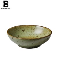 5.5 Inches Japanese Style Vintage Coarse Pottery Tableware Ceramic Bowl Fruit Salad Mixing Bowl Noodle Soup Bowls Food Container
