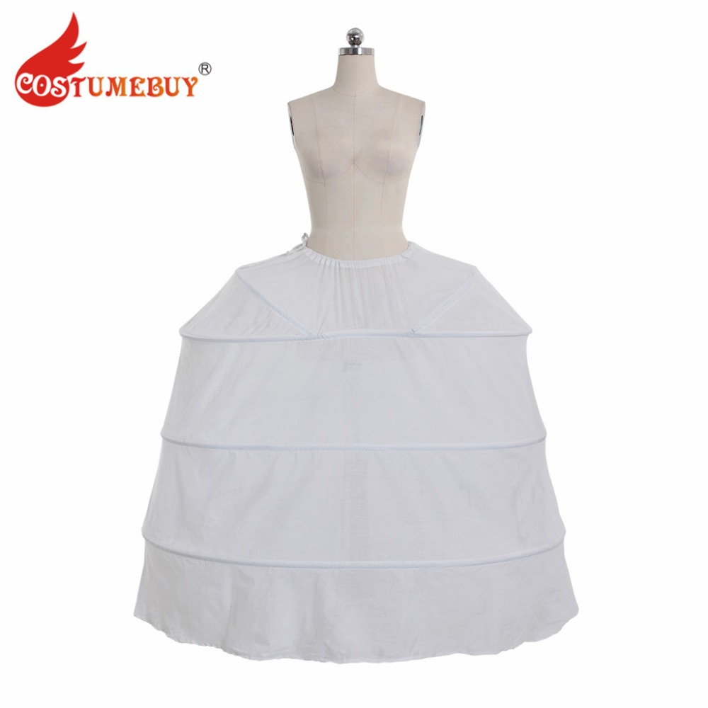 Costumebuy Medieval Victorian Rococo Gown Dress Petticoat Full Crinoline Wedding Party Underdress Jupon Underskirt 4 Hoop
