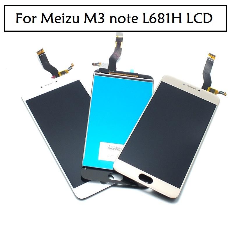 """Prix pour Pour Meizu L681H LCD Display + Digitizer Écran Tactile Assemblée 5.5 """"Blanc Noir pour Meizu m3 note L681H Écran 1920*1080"""
