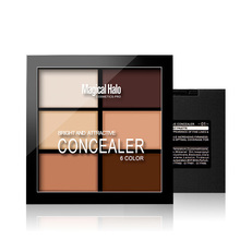 LEARNEVER Professional 6 color Natural Face Concealer Palette Make up Set Contour Cream Kit Free Shipping M02694