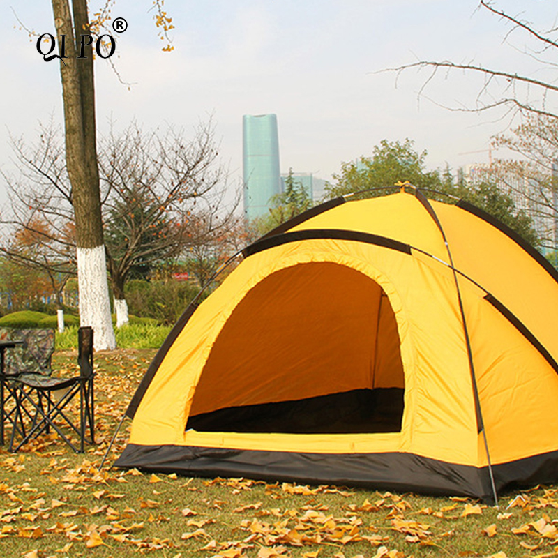 QIPO Pop-Up Dome Tent outdoor Camping tent family Lightweight Quick Automatic Openning Tent For 1-2 Persons outdoor camping hiking automatic camping tent 4person double layer family tent sun shelter gazebo beach tent awning tourist tent