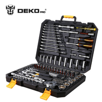 DEKOPRO 140 Pcs Professional Car Repair Tool Set Auto Ratchet Spanner Screwdriver Socket Mechanics Tools Set W/ Blow Molding Box