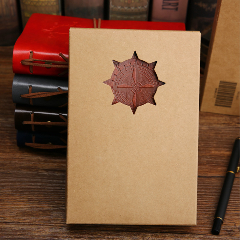 Vintage Pirate Anchors PU Leather Note Book Replaceable Stationery Gift  Spiral Notebook Diary Notepad Replaceable inner core 3