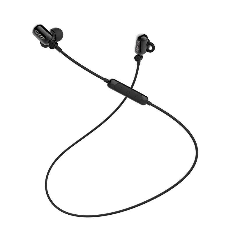 EDIFIER W293BT słuchawki douszne bezprzewodowe słuchawki z redukcją szumów zestaw słuchawkowy dla aktywnych Bluetooth V4.1 w połączeniu z o wysokiej wytrzymałości zmęczeniowej, HSP, A2DP, AVRCP