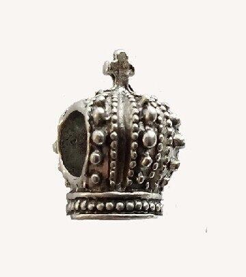 3 unids color 3D rey y reina corona de plata del grano del agujero, moda