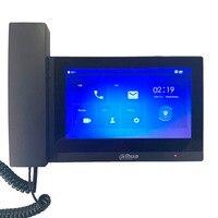 Ahua VTH5221E/EW-H 7 дюймов сенсорный Крытый мониторы, IP дверные звонки, ручной, видеодомофоны, проводной дверные звонки