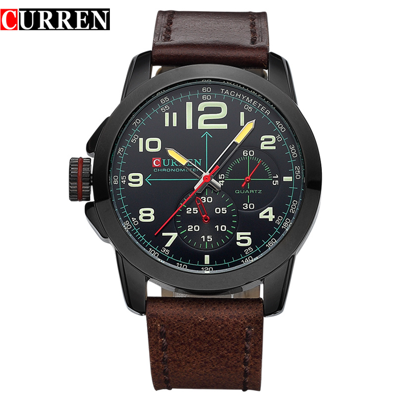 Original Top Brand CURREN Men Sport Wristwatches Famous Watches Military  Quartz Watch Relogio Masculino 8182 2017 new top fashion time limited relogio masculino mans watches sale sport watch blacl waterproof case quartz man wristwatches