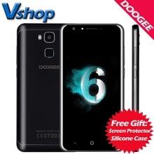 Origine DOOGEE Y6C 4G Mobile Téléphones Android 6.0 2 GB RAM 16 GB ROM MTK6737 Quad Core 720 P 8MP Caméra Dual SIM 5.5 pouce Cellulaire Téléphone