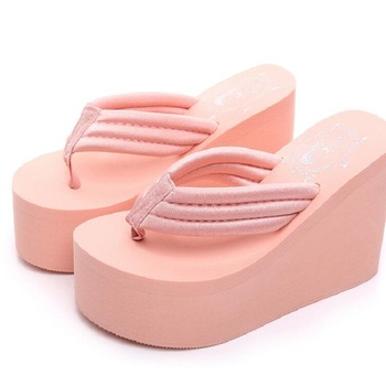 44fa494bdc 2018 New Arrival Women Chunky Sandals High Heels Wedges Flip Flops ...