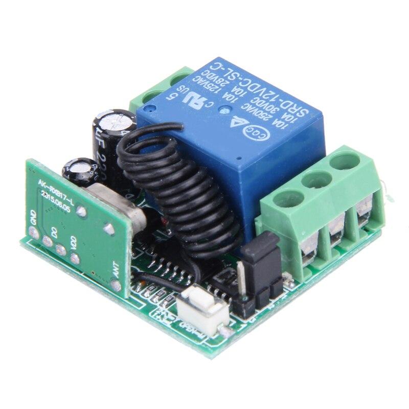 Interruptor de Control remoto inalámbrico Universal, transmisor de teletrabajo DC 12V 10A 433MHz con receptor para sistema de alarma antirrobo