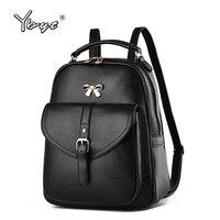 Black Preppy Style Bow Rucksack Hotsale Woman Shopping Mobile Purse Bookbags Ladies Travel Ofertas Bags Student