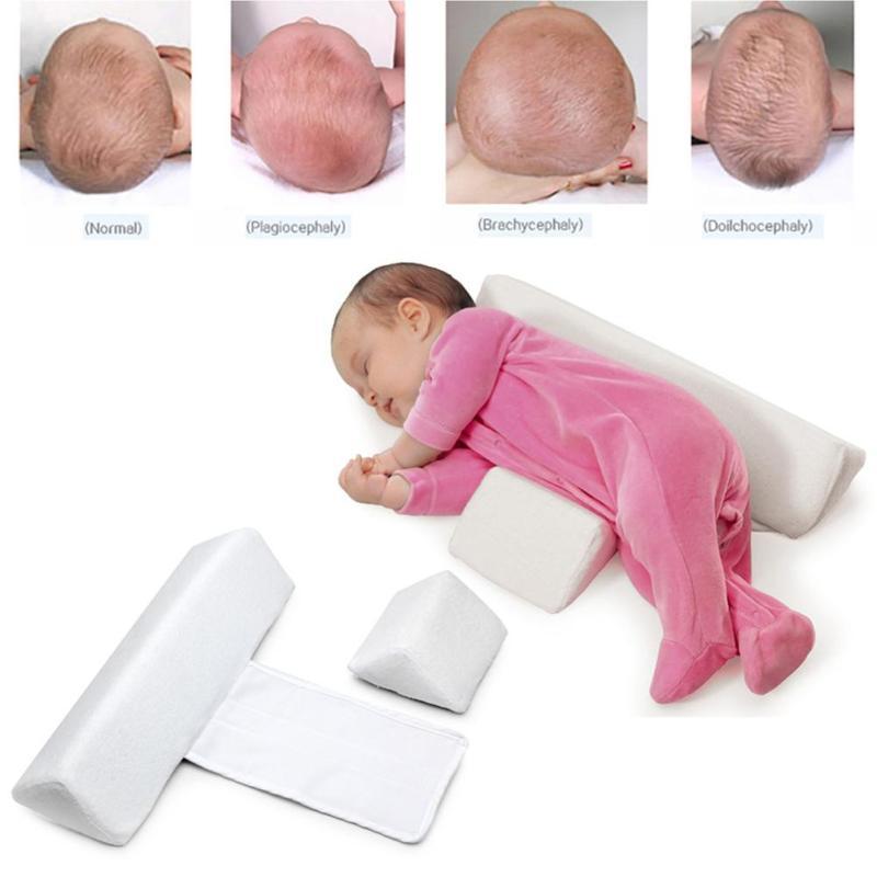 High quality pillow Newborn Baby Infant Sleep Positioner Prevent Flat Head Shape Anti Roll Pillow 2017 X2