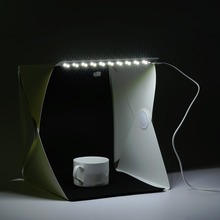 hot deal buy newest 22*24*24cm mini size foldable led light photo studio box portable photography studio photo box photo studio accessories