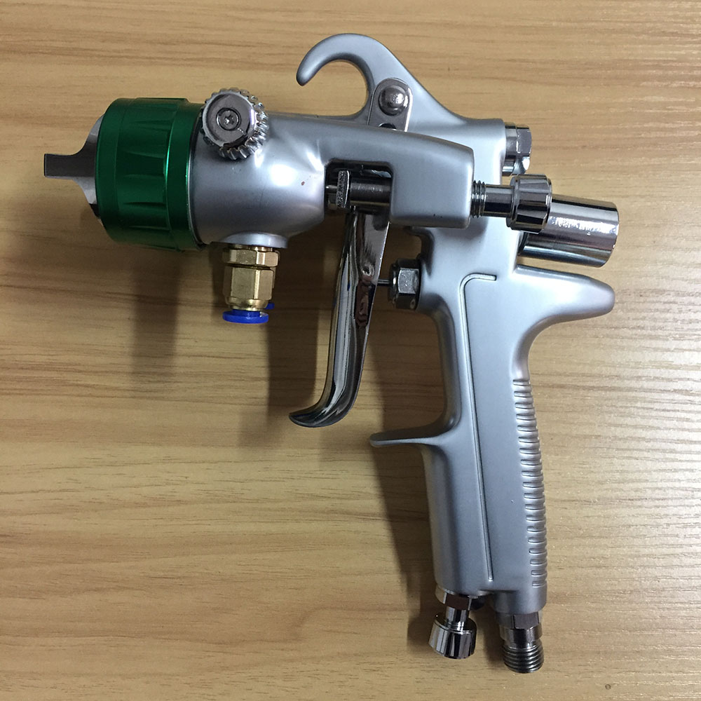 цена на SAT1189 professional 1.3mm high pressure feed spray gun pneumatic car paint gun pneuamtic double nozzle sprayer gun