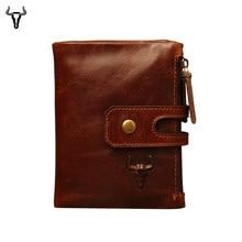 Mingclan Originální kožené dámské peněženky Dámská dlouhá peněženka Dámská mincovní taška na peněženku Peněžní spojka Handy Portomonee Rfid