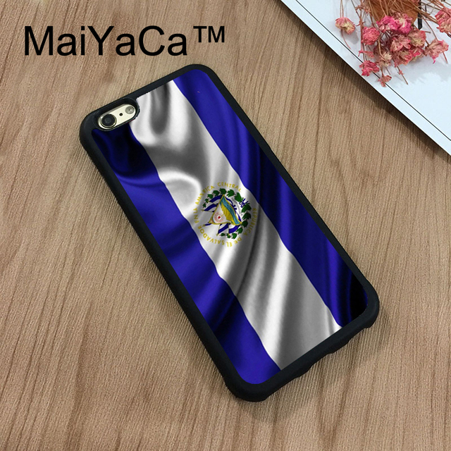 El Salvador MaiYaCa Simbol Bendera Nasional Kasus Telepon Untuk iPhone 7 Shell Plastik Keras Telepon Kasus Lembut Karet Tepi Kembali penutup