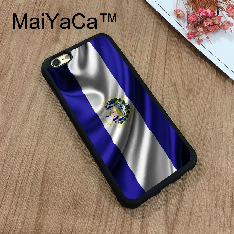 MaiYaCa El Salvador National Symbol Flag Phone Cases For iPhone 7 Shell Hard Plastic Phone Case Soft Rubber Edge Back Cover