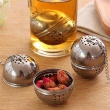 Новинка, шаровая сетка для заварки чая из нержавеющей стали, фильтр-фильтр с крючком, шар для специй в виде листка чая с веревкой, цепочка для дома, кухонные инструменты