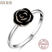 2016 ROXI Brand 925 Sterling Silver Flower Ring Elegant Women Jewelry Luxury New Fashion Womens Lady Wedding Bridal Party Rings