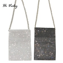 Designer Crossbody Bag Women Chain Mini Shoulder Bag Diamonds Small Messenger Phone Bag Women Handbags Purse evening clutch bags