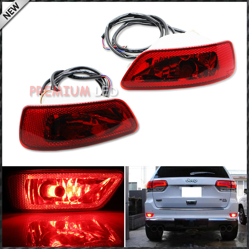 Complete Set LED Rear Fog Light Kit w/LED Bulbs, Rear Foglamps, Wirings For 2011-2015 Jeep Grand Cherokee WK2, Compass, Patriot 2pcs brand new high quality superb error free 5050 smd 360 degrees led backup reverse light bulbs t15 for jeep grand cherokee