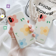 Fashion flower oil painting phone case For iphone XS MAX XR 6 6s 7 8plus matte soft shell Tpu capa back cover X