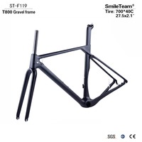 Newest Road MTB Gravel Full Carbon Bike Frame Gravel Carbon Bicycle Frame Cyclocross Disc Frame With