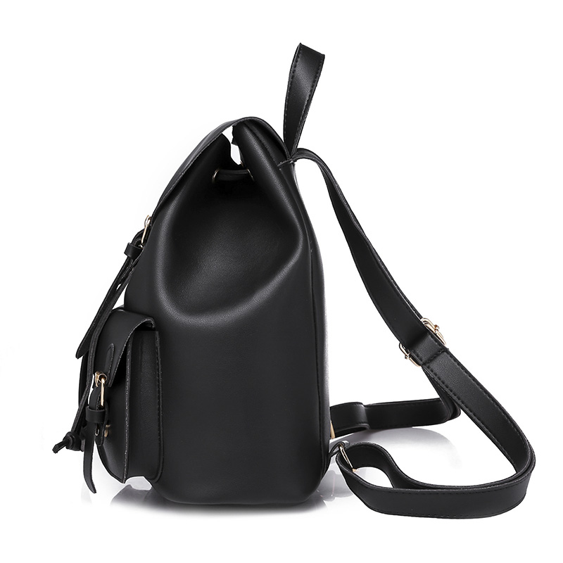 a4a8c76596db 2017 Women Backpack Vintage Leather Backpacks Drawstring Black Rucksack  Brand Shoulder Bags For Teenage Girls School Bag Women s Drawstring PU  Leather ...