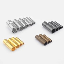 10Sets Silver/Gold/Brown 2mm 3mm 4mm 5mm 6mm 8mm Metal End Caps Bayonet Clasps For Round Leather Cord Bracelets Jewelry Making 300pcs 8mm to 27mm watch band friction pins for clasps with 1 2mm head