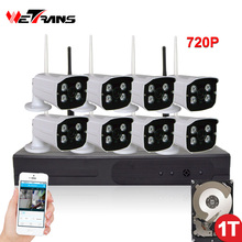 CCTV System Wifi Camera 8CH NVR Kit 720P HD Plug Play Waterproof Night Vision Outdoor Wireless Home Video Surveillance System